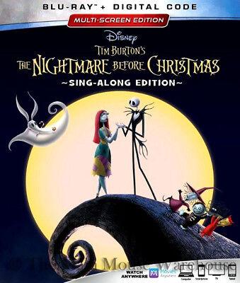 Disney Halloween Movie The Nightmare Before Christmas Blu-ray Digital Copy Code ()