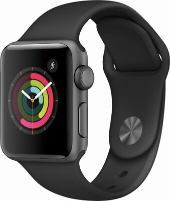 Apple Watch Series 2 42mm Space Gray Aluminum Case Black Sport Band