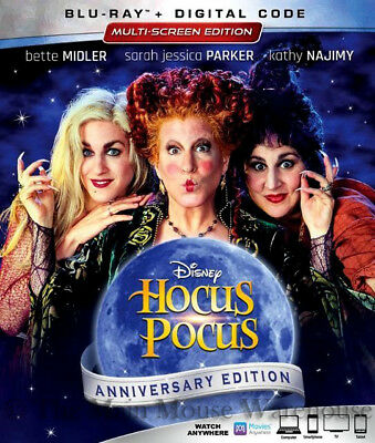 Disney Classic Halloween Witches Movie Hocus Pocus Blu-ray & Digital Copy Code](Classic Halloween Movies Family)