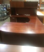 Used U-Shape Suite with filing Cabinet