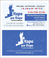 Aide aux devoirs/home work assistance/rattrapage scolaire/15$