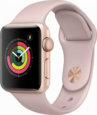 New Apple Watch Series 3  Gps  38Mm Gold Aluminum Case With Pink Sand Band