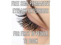 Free Eyelash Extensions for first 10 people to book