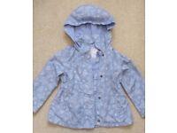 Tu lilac butterfly rain jacket age 2-3 years