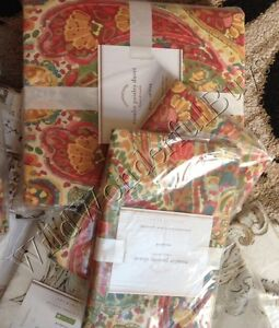 Pottery Barn Rosalie Euro Sham Paisley Red New Just One