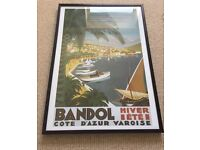 Framed poster print 'Bandol' South of France - BATTERSEA COLLECTION