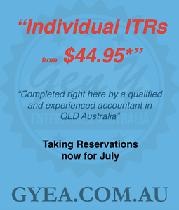 GYEA - Individual Tax Returns from $44.95* Sunnybank Hills Brisbane South West Preview
