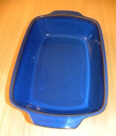 "Denby Imperial blue large rectangular serving dish 14"" x 8.75"""