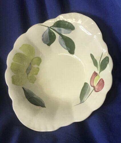 "Vintage Blue Ridge Southern Pottery 7"" Lugged Bowl Edgemont, Yellow, Green"