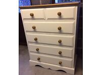 Pine large chest of drawers