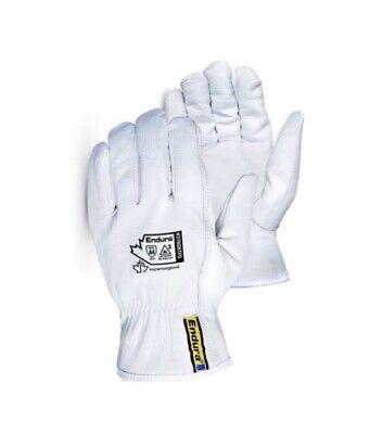 Mens Leather Work Gloves Superior Endura-goatskinkevlar Lined Size Xl