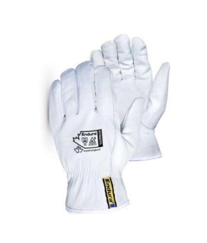 Mens Leather Work Gloves, Superior Endura-Goatskin–Kevlar