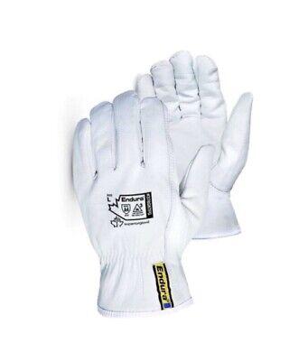 Mens Leather Work Gloves Superior Endura-goatskinkevlar Lined Size Large