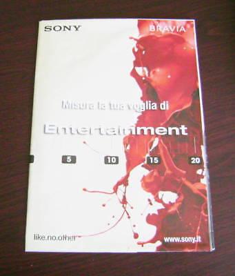 Catalogo SONY BRAVIA POSTER GRANDE dépliant brochure tv lcd full hd ready cinema Sony Bravia Hd Ready Tv
