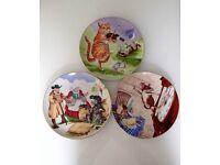 3 x Nursery Rhyme Plates - HARROW