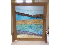 Glass firescreen