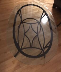 Glass Coffee Table and End Tables