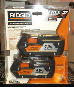 TWO pack of Ridgid 18V 4ah Batteries