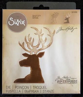 by Tim Holtz!! Sizzix Bigz Dashing Deer die #661606 Retail $19.99 Retired