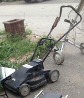 Battery operated lawnmower