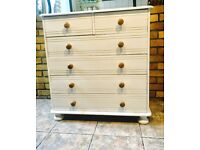 shabby chic solid pine chest of drawers farrow and ball