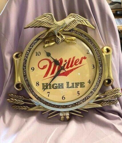 MILLER HIGH LIFE BALD EAGLE ZOIZEL BATTERY POWERED CLOCK