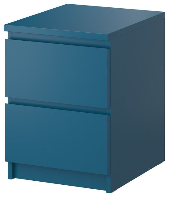 Ikea turquoise teal blue green 2 drawer chest bedside for Divan 2 2 drawers