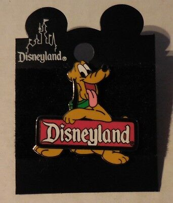 Disney Pin Pluto 2000 Disneyland Sign Logo