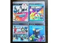 Playstation 3 Move Games Bundle