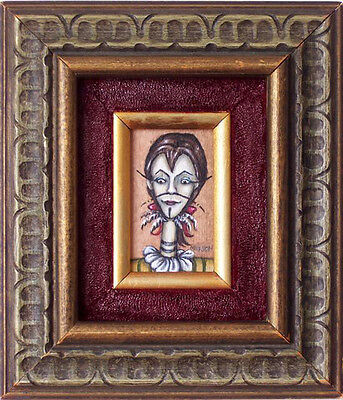 Minature Framed Painting Signed Stephanie Mufson