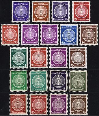 DDR Dienstmarken postfrisch aus Michel Nr. 1-17, 18-28 und 34-41 - KW über 100 €