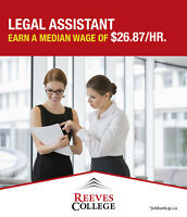 Become a Legal Assistant in Just Over a Year at Reeves College