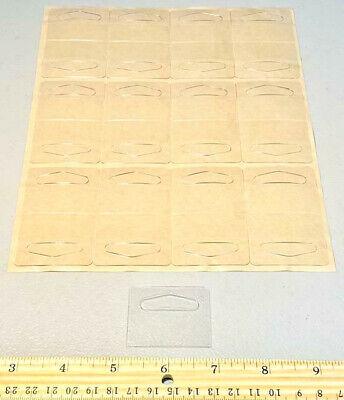 1000 Prime Clear Self Adhesive Plastic Hang Tabs Tags Peg Board Hook Hangers