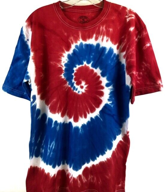 Tie Dye USA Design Swirl Tee Clothing, Shoes & Accessories