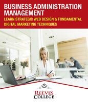 Study Business Administration Management at Reeves College