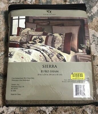 Veratex Sierra Euro Sham 26 X 26 New