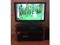 "37"" LG had ready TV with black glass stand £100"
