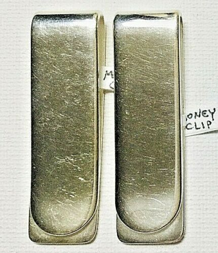 Sterling Silver Classic Money Clip Pair