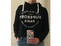 **REDUCED** - cropped Superdry Hoodie - size L