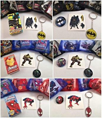 Superhero themed party/gift/loot bag fillers.Avengers,Spiderman,Batman to choose - Superhero Themed Party