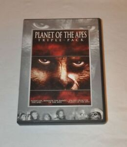 NEW Unopened 1970s Planet of the Apes Triple-Pack DVD (3 films)