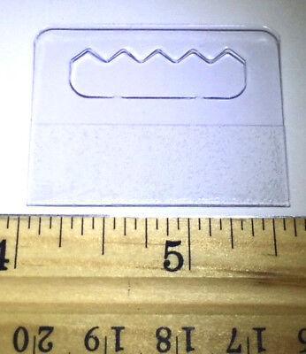200 Hang Tabs Strongteeth Self Adhesive Clear Plastic Tags Slatwall Pegboard