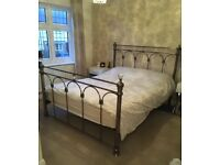 Kingsize Bed. Metal with Crystals