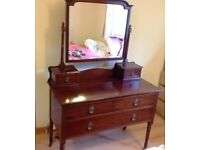 Dressing Table with Glass cover top