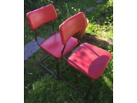 Vintage Retro Industrial Original Stak-A-Bye Chairs 1950 with Padded Seats