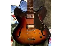 Guitar Gibson ES-335 Studio 2015 in Ginger Burst (great condition with trapeze and pickguard)