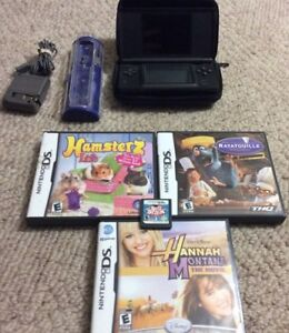 Nintendo DS With Charger and 4 Child Friendly Games