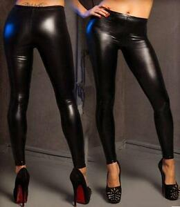 leggings noir faux-latex