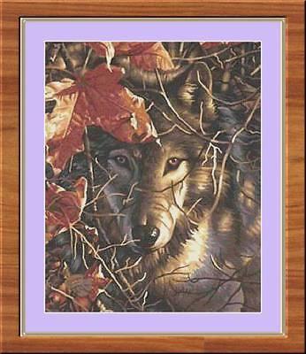 Autumn Wolf Counted Cross Stitch Pattern