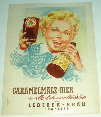 Lederer-Bräu Nürnberg - Caramelmalzbier - DIN A4 50er J